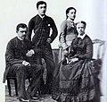 Maria Clotilde, Princess Napoléon with her children.jpg