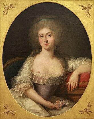 Surintendante de la Maison de la Reine - Marie Louise Thérèse de Savoie de Carignan, princesse de Lamballe by Joseph Duplessis