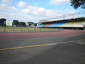 Marikina Sports Complex - Football field and athletics oval of the MSC, 2014