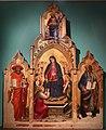 Mariotto di nardo, madonna della cintola tra i ss. girolamo e giovanni evangelista, 1398 (fiesole, oratorio di fontelucente), 01.jpg
