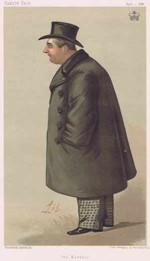 "George Brudenell-Bruce, 4th Marquess of Ailesbury - ""the Marquis"" William Brudenell-Bruce, 4th Marquess of Ailesbury, as caricatured by Liborio Prosperi in Vanity Fair, April 1888"