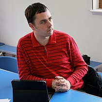 Martin Poulter, WMUK board meeting, August 2011.jpg