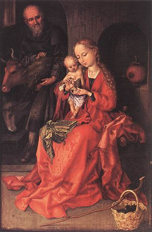 Martin Schongauer - The Holy Family - WGA21040