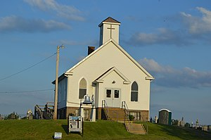 Ohio State Route 339 - Methodist church at Crooked Tree.
