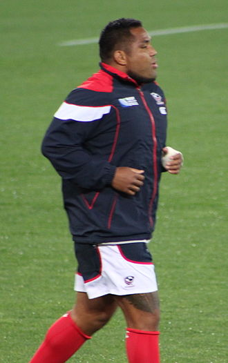 Matekitonga Moeakiola - Moeakiola before a match vs Australia in the 2011 Rugby World Cup