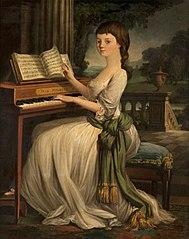 A Girl at a Harpsichord