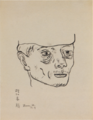 MatsumotoShunsuke Sketch Head of a Railroad-Flagman-Sep-1942.png