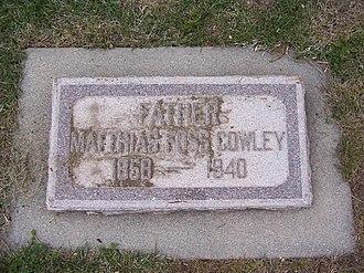 Matthias F. Cowley - Image: Matthias F Cowley Headstone