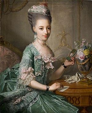 Duchess Sophia Frederica of Mecklenburg-Schwerin - Portrait by Georg David Matthieu, c. 1774.