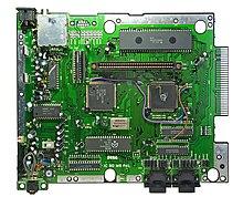 Image représentant la carte mère de la Mega Drive