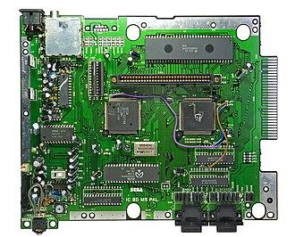 Sega Genesis - European Mega Drive mainboard