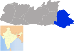 Location of Jaintia Hills district in Meghalaya