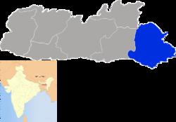Vị trí của Huyện Jaintia Hills