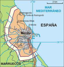 Mapa Marruecos Ceuta Y Melilla.Melilla Wikipedia La Enciclopedia Libre