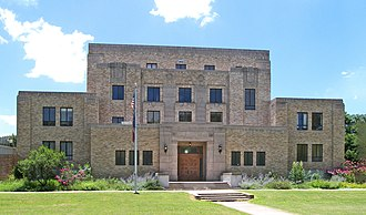 Menard County, Texas - Image: Menard county courthouse 2010