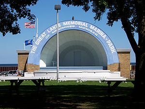 Menominee, Michigan - Bandshell