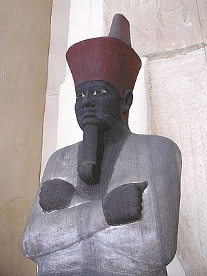 Middle Kingdom of Egypt - An Osiride statue of the first pharaoh of the Middle Kingdom, Mentuhotep II