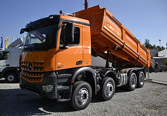 Dump truck - Mercedes-Benz Arocs dump truck with eight-wheel drive