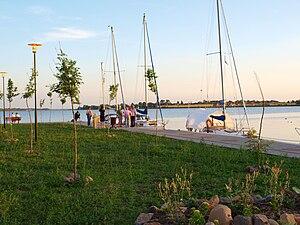 Kamieński Lagoon - Image: Międzywodzie 8 Sierpień 2009 061