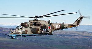 Georgian Air Force -  A Georgian Mi-24 in flight