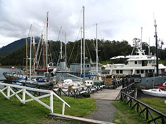Southernmost settlements - Image: Micalvi yacht club navarino chile