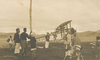 Mount Hagen - The plane, 'Canberra', before the 1933 expedition to Mount Hagen