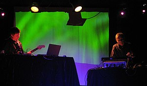 Dieter Moebius - Image: Michael rother and dieter moebius 2007 11 14 live