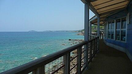 道の駅阿久根からの東シナ海の眺望(国道3号、阿久根市)
