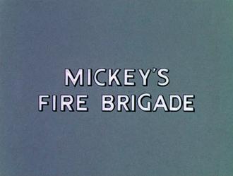 Mickey's Fire Brigade - Title screen