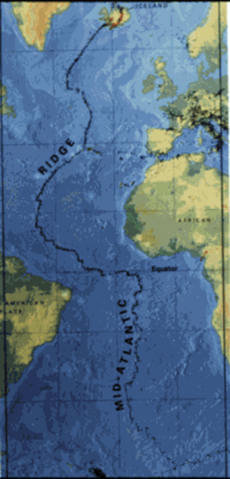 Mid-Atlantic Ridge - A map of the Mid-Atlantic Ridge