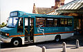 Midland Mainline bus Corby Rail link livery in Kettering, Northamptonshire June 2004.jpg