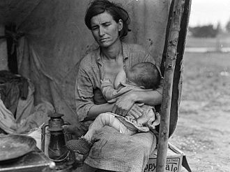 Florence Owens Thompson - Image: Migrant Mother 1936 2