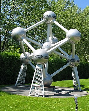 Atomium - A model of the Atomium at Minimundus, in Austria
