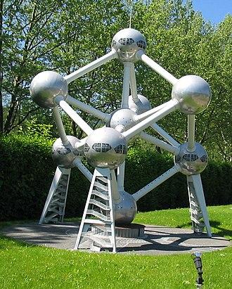Atomium - A model of the Atomium at Minimundus, in Austria