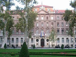 Government of Croatia - Image: Ministry of Foreign Affairs building (Croatia)