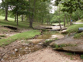 Mill Hollow - Roadside park in Mill Hollow adjacent to Missouri Route 5