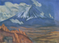 MitsutaniKunishirō-1917-Mt Fuji in a Windy Day.png