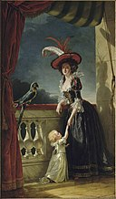 Mme Louise-Elisabeth with her two year old son.jpg