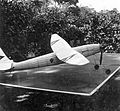 Model plane, insignia, table tennis table Fortepan 22337.jpg