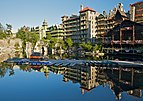 Mohonk Mountain House 2011 Boat Dock Against Guest Rooms FRD 3041.jpg