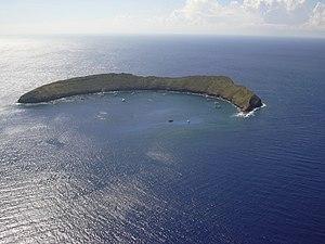 Molokini - Aerial photo of Molokini
