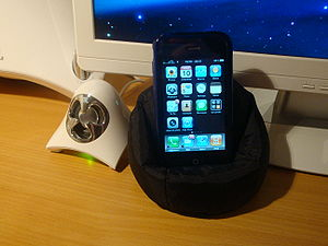 My iPhone 3G in its beanbag cellphone chair