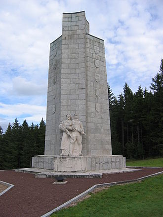 Mont Mouchet - Memorial to the resistance.