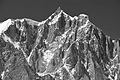 Mont Maudit from Punta Helbronner, 2010 July 2, bw.JPG