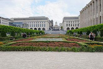 Mont des Arts - view to the garden