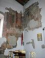 Montepescali, san niccolò, interno, resti di affreschi del 1380-90 circa 03.JPG