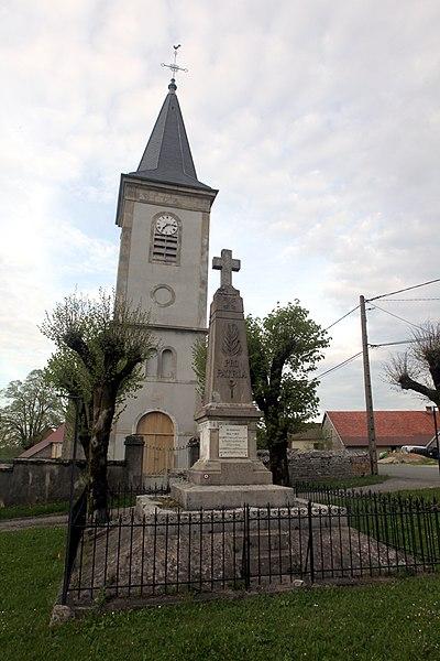 Monument aux morts de Montmahoux (Doubs).
