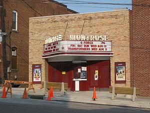 Montrose Historic District (Montrose, Pennsylvania) - Image: Montrose Theater Montrose Historic District Aug 09