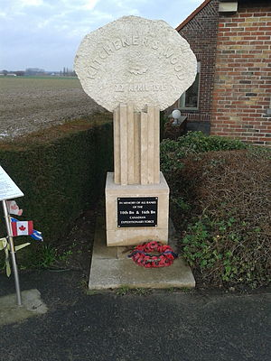 Battle of Kitcheners' Wood - The oak leaf memorial