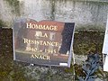 Monument aux morts d'Albert (Somme), plaque à la mémoire de la Résistance.jpg